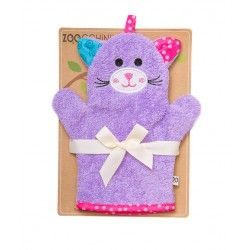 Zoocchini Bath Mitt - Kallie the Kitten makes bath time fun! Can be used for washing up or for fun puppet play.