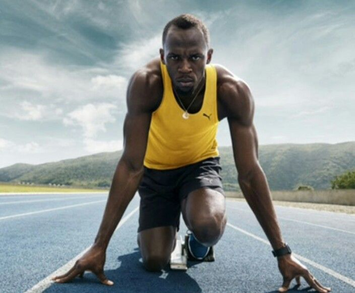 Usain Bolt representing Jamaica. Fastest Man on Earth. Gold Medal. 100m time 9.81seconds - AMAZING!!