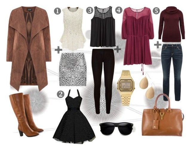 """""""Plus Size Mix & Match"""" by ibuperi on Polyvore featuring Komar, H&M, Jilsen Quality Boots, WearAll, M&Co, Silver Jeans Co., Yves Saint Laurent, Casio and Red Camel"""