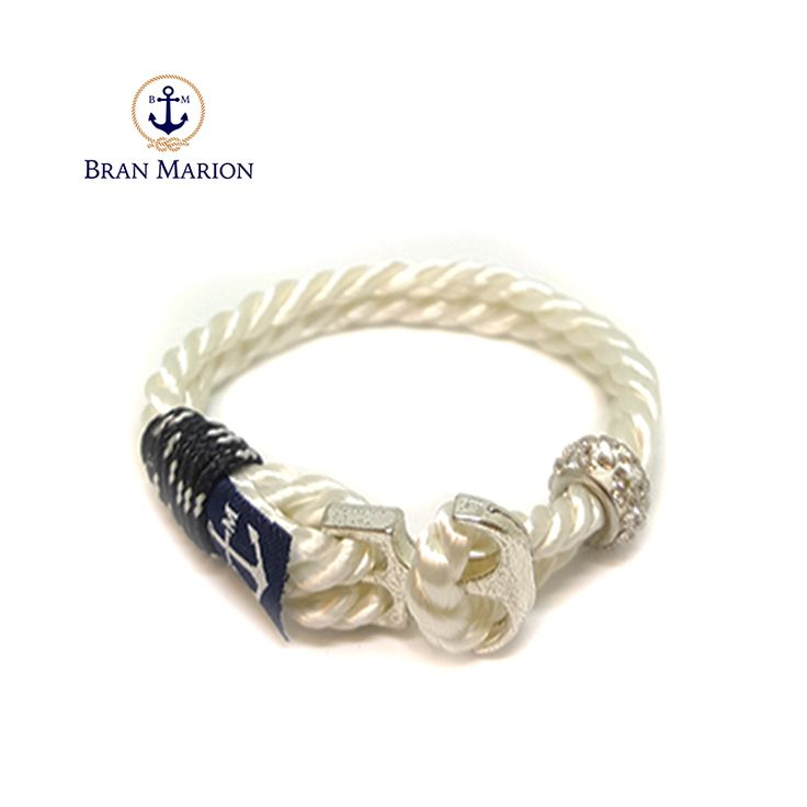 Bran Marion Crystal Beads Anchor Men Nautical Bracelet