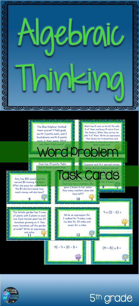 algebraic expressions word problems pdf