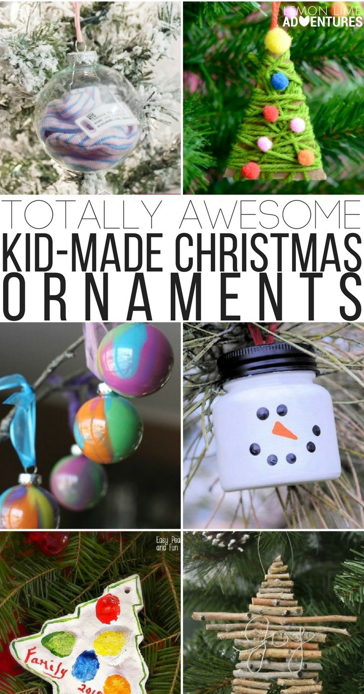 Personalized ornaments for kids - Totally Awesome Kid Made Christmas Ornaments