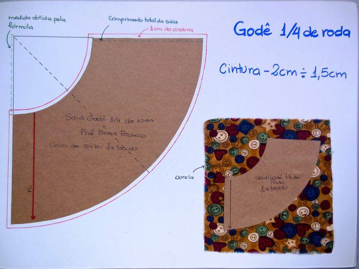 Como fazer saia godê com ¼ de roda? - Industria Textil e do Vestuário - Textile…