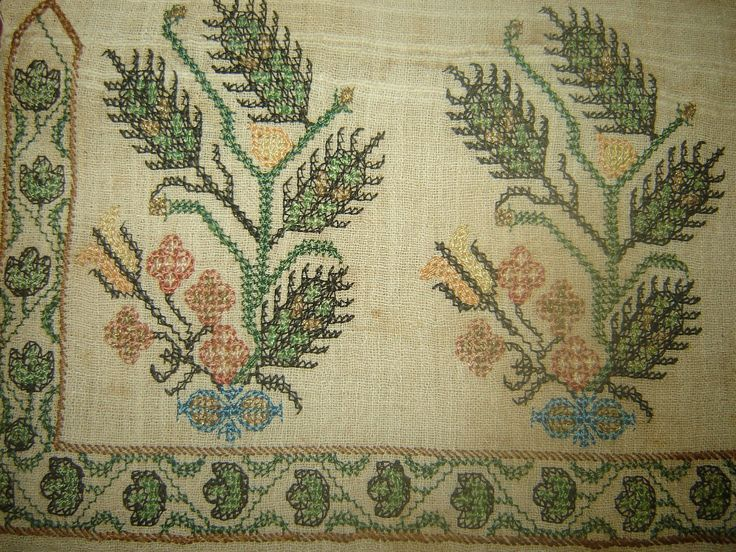 19th C Antique Ottoman Turkish Hand Embroidery on Linen 039 Yağlik 039 | eBay