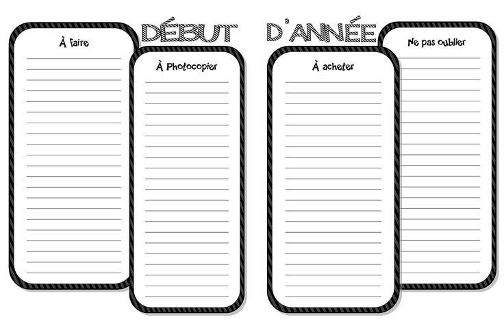 aide-mémoire début d'année  (Planificateur 2014-2015)