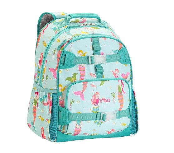 Mackenzie Aqua Mermaids Backpacks Pottery Barn Kids