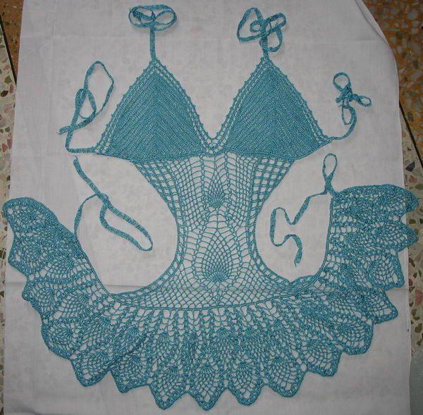 bikini patterns | Free Crochet Pattern – Bikini Top (girls) from the Beach Free