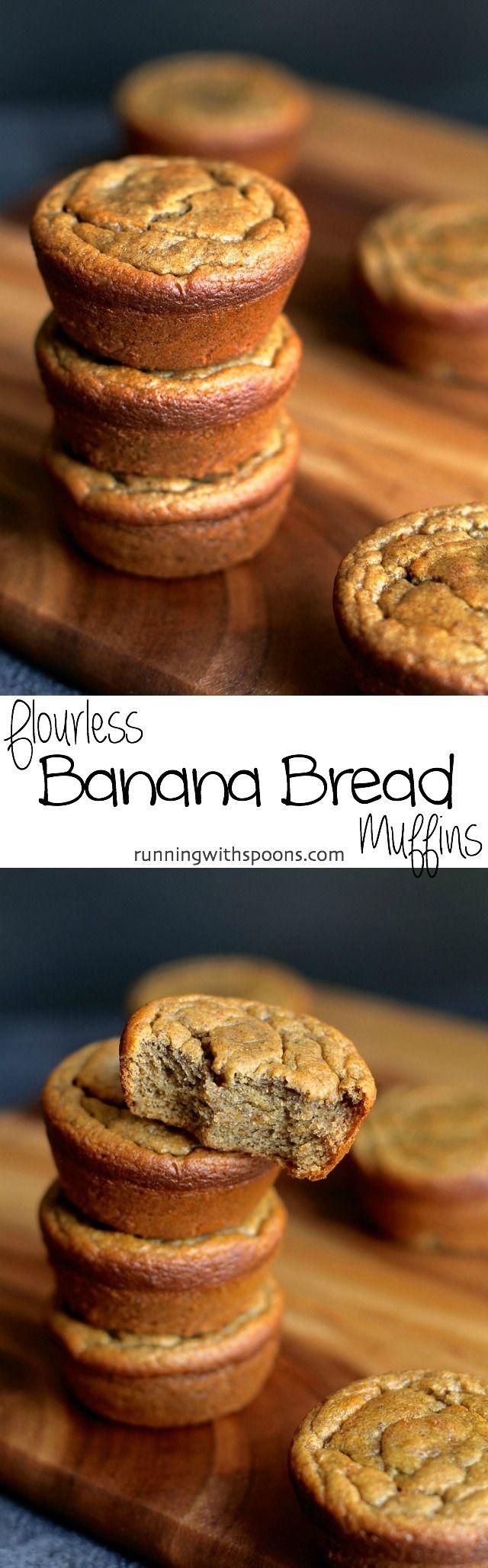 Flourless Banana Bread Muffins Long