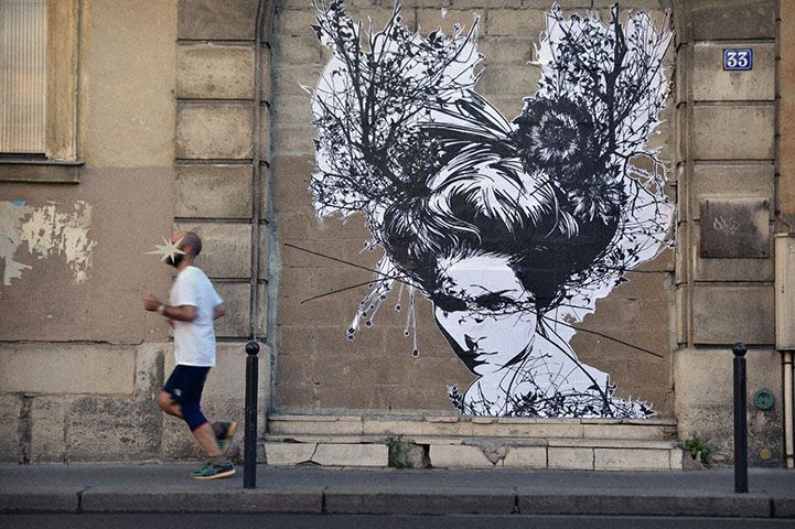 Exquisite Wheatpastes by French Street Artist Monsieur Qui - My Modern Metropolis