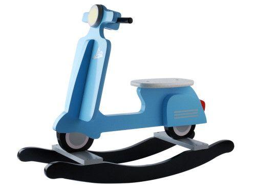 jip schaukel roller blau baby wooden scooter vespa. Black Bedroom Furniture Sets. Home Design Ideas