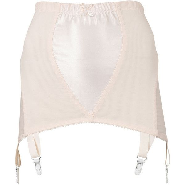 Peach Glamour Girdle, What Katie Did, size: 14 (£35) ❤ liked on Polyvore featuring intimates, lingerie, underwear, skirts, garter belt and suspender belt