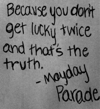 """""""Without The Bitter The Sweet Isn't As Sweet,"""" Mayday Parade lyrics"""