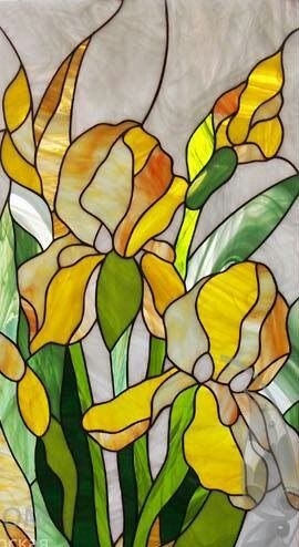 Possible stained glass window for the window that is sometimes placed in front of the kitchen sink? Love daffodils!<3