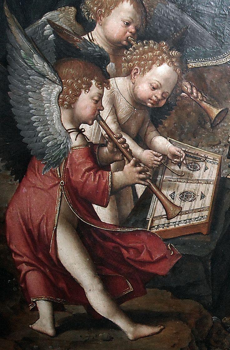 Jacob Cornelisz van Oostsanen - Musical Book (score) and Musician Angels (1512). Detail.> Photo by * Karl * (2013).
