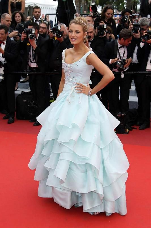 Cannes Film Festival 2016 Red Carpet. Pregnant Blake Lively Channels Cinderella In a Princess Ballgown.