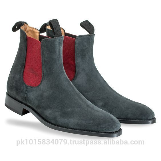 Source Grey Suede Chelsea Boots Men, Elasticated Side Panels, Genuine Leather Upper and Lining, Crepe Rubber Sole, High Quality Chelsea on m.alibaba.com