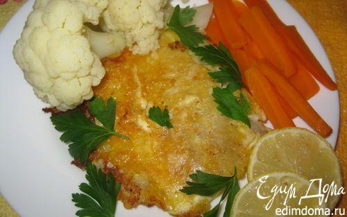 Минтай в сырной корочке   Кулинарные рецепты от «Едим дома!»