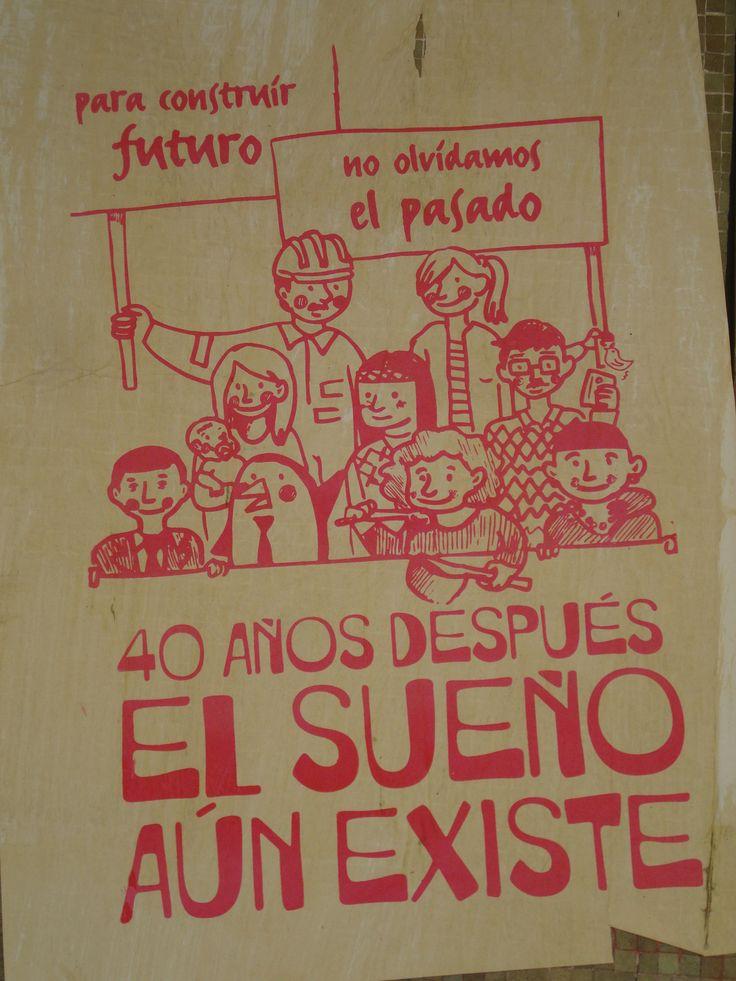 El sueño aun existe. Santiago de Chile, Romería al Cementerio General, 8 de sept. de 2013. A 40 años del golpe.