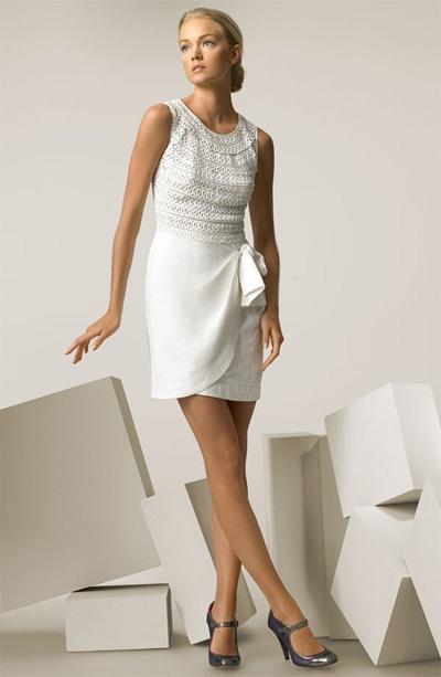 Casual White Linen Beach Wedding Dress