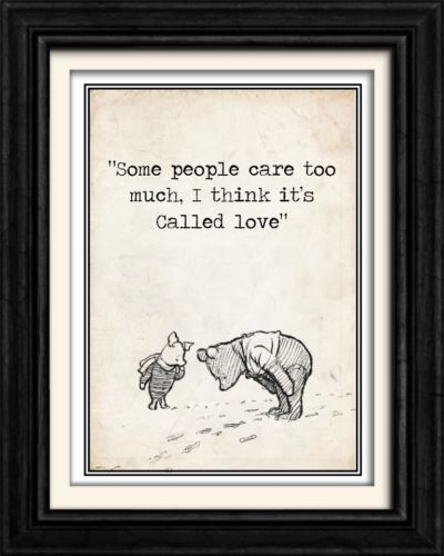 VINTAGE 36.WINNIE THE POOH BABY/CHILDS ROOM WORD ART PRINT/POSTER/GIFT 8X10