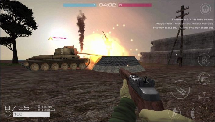 Vanguard Online Battlefield is a Free 2 Play Android, First-Person Shooter FPS, Multiplayer Game featuring an immersive ranking system.