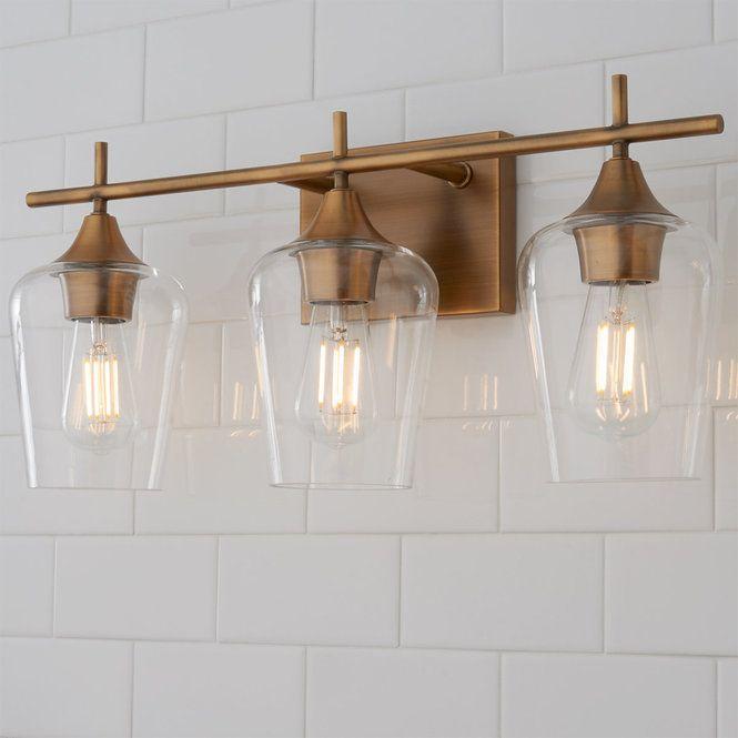 Ashley Vanity Light 3 Light Glass Light Fixture Vanity Lighting Glass Kitchen Lights