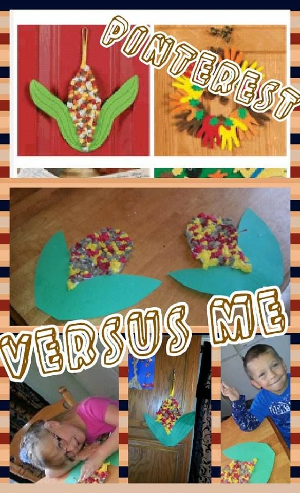 Colorful corn craft - not only was it thanksgiving but we are also working on /k/ sounds with my nephew this was a lovely project for that as well as fine motor since we were scrunching all the balls of tissue as the kernels. linked to site I used as inspiration