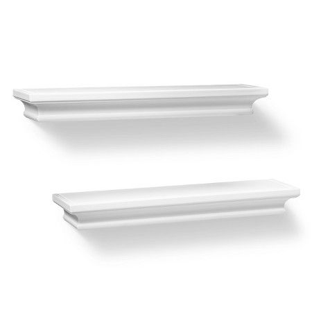 "Set of 2 Traditional Shelves - White (15.75"") - Threshold™ : Target"