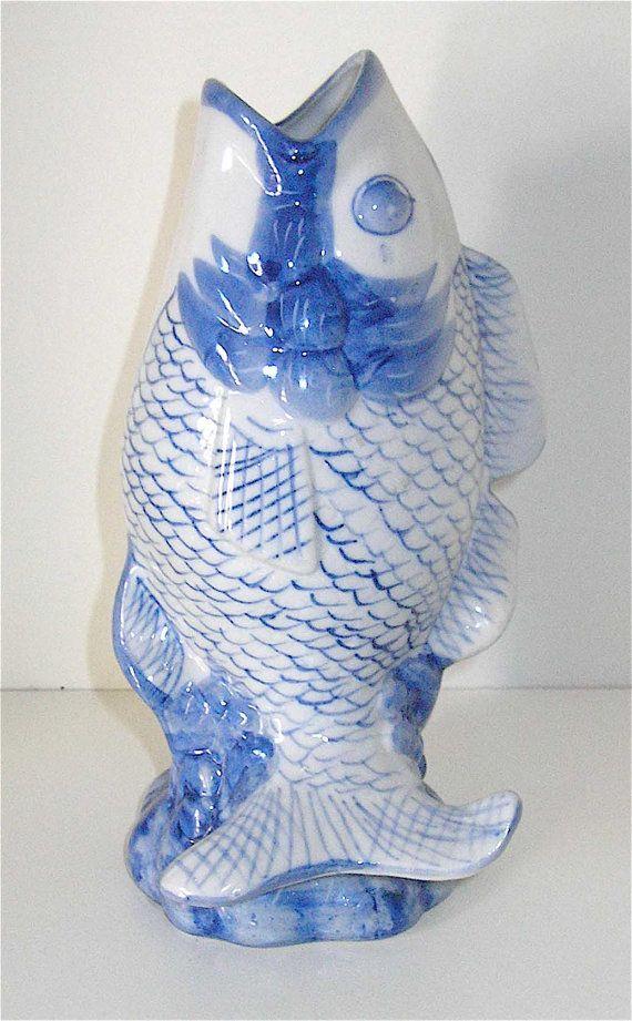 Chinese porcelain koi fish vase from williams sonoma on for Koi fish vase