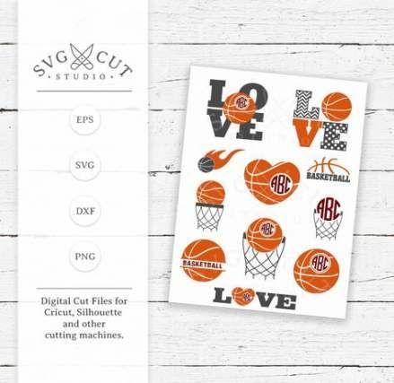 Download 25+ Trendy Basket Ball Love Svg #basket   Monogram svg ...
