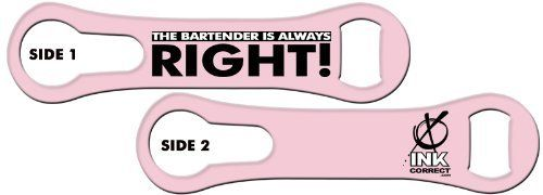 V-RODTM Bone Bottle Opener and Pour Spout Remover: The Bartender is Always Right: Lite Pink by Ink Correct. $8.99. Bottle Opener & Pour Spout Remover  The revamped, sleek and multifunctional new version of the original Bartender's Bottle Opener, the V-RODTM Opener is the latest and greatest addition to our line of Killer Bartender Gear. The bone shaped design  features an ergonomic grip and an additional groove on the ring end that allows for the easy removal of pour spou...