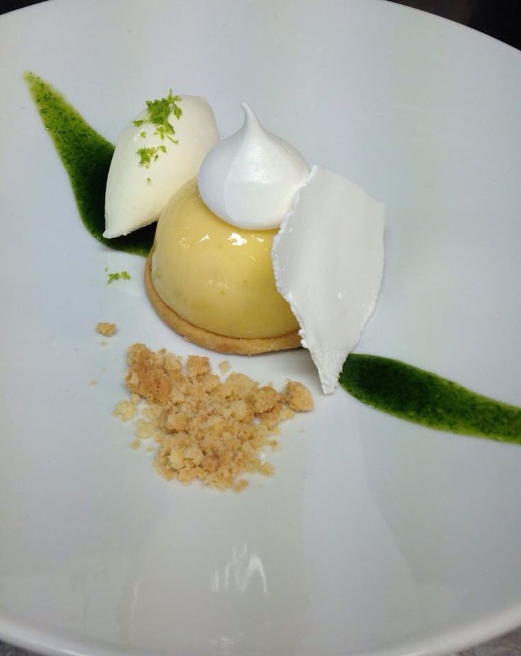 #lemontart #shortbread #lime #mint #mintsauce #meringue #lemongrass #sorbet #plateddesserts #apapastavrou #chefargiris  Lemon and lime tart ! Lemon and lime cream , shortbread,meringue, mint sauce, lemongrass sorbet creation by chef patissier Argiris papastavrou
