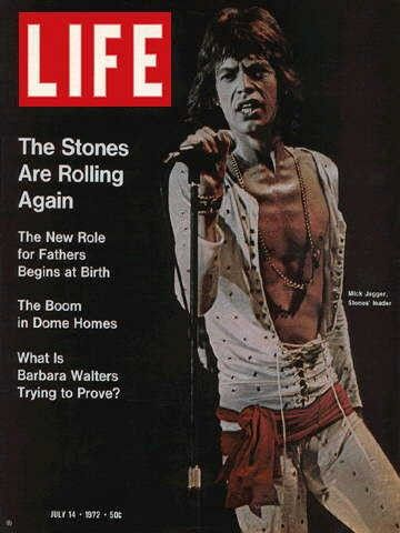 "July 14, 1972 issue ~ Mick Jagger ~ ~ Old Life Magazines ~ Click image to purchase. Enter ""pinterest"" at checkout for a 12% discount."