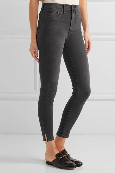rag & bone - The Capri Cropped High-rise Skinny Jeans - Gray - 24