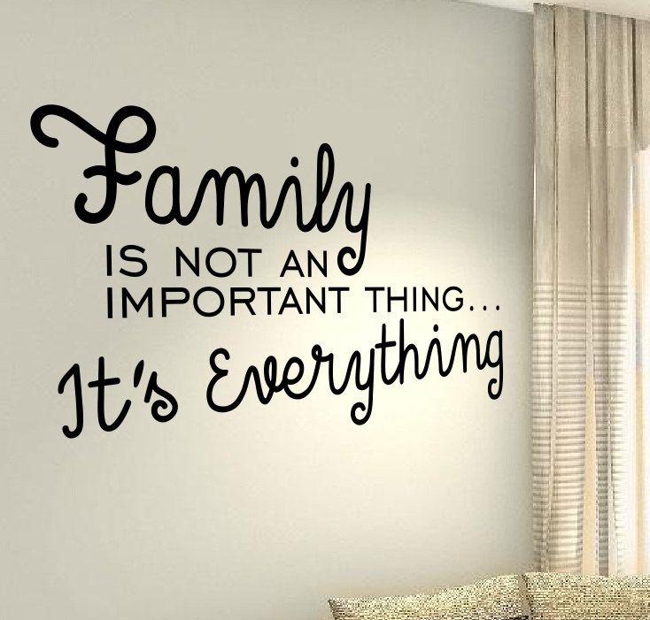 Familie er alles liefde Kiss citeer muur vinyl stickers