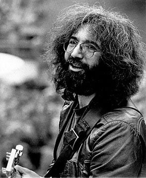 Jerry Garcia...he makes my husband smile! We have an organial protrait of Jerry hanging on one of our walls~