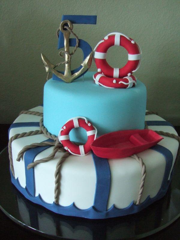 Nautical cake!  By: yanira1973    All edible!!!  URL: http://cakecentral.com/gallery/1926784/nautical-cake  Read more at http://cakecentral.com/gallery/1926784/nautical-cake#u1eMipjP60FDbARI.99