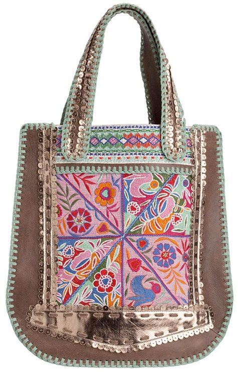 Statement Bag - Blue Brown Starburst 45 by VIDA VIDA hrM0i