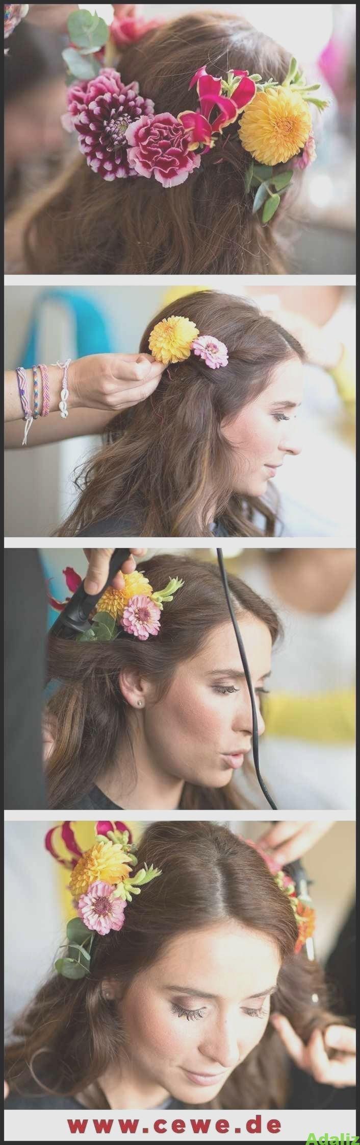 Hochzeit: Frisur für mittellanges bis langes Haar. Halb offen – Frisuren Tuto…,
