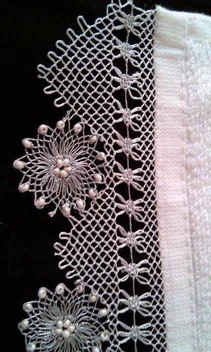 beaded needle lace  'oya'