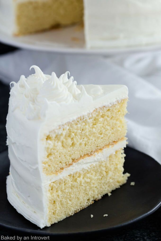 """This made from scratch Basic Vanilla Cake Recipe is a one that must be added to your repertoire. It's light, tender, and full of vanilla flavor. The great thing about this recipe is it can be made in two 9-inch pans, three 8-inch pans, or two 12-cup..."