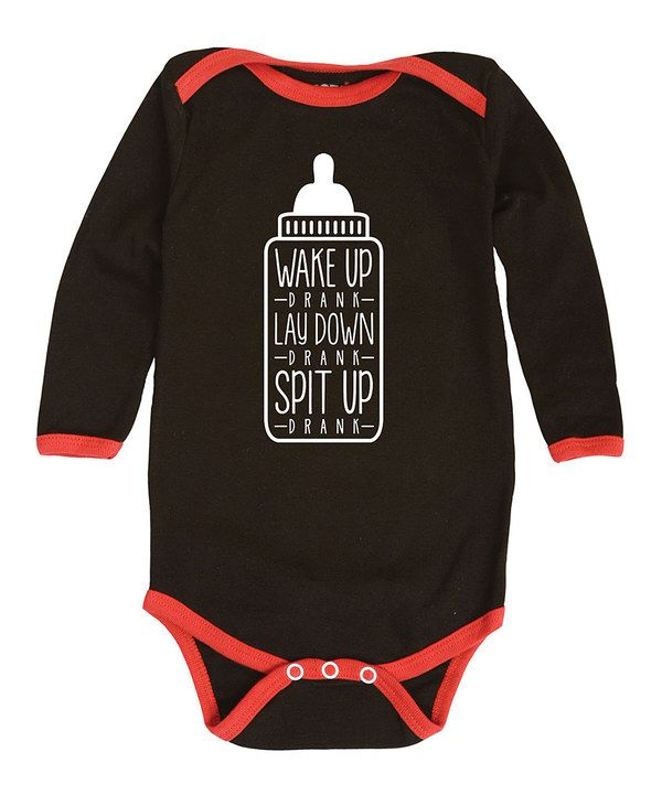 Look at this Celebration Station Black 'Wake Up Drank' Bodysuit - Infant on #zulily today!