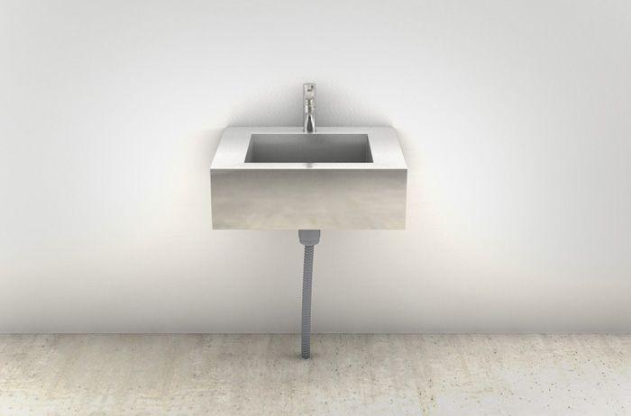 ミニマルシンクは、ステンレスのシンプルなシンク。深さがあるので洗い場としての作業性もよし。シャープなデザインで店舗など人目につく場所におすすめです。