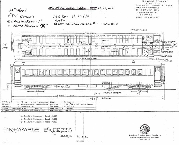 92 best blueprints railroads images on pinterest train trains american freedom train car 203 ex reading 1327 permacel express springmaid special preamble malvernweather Images