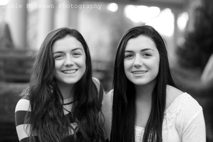 twins ~ photography ~ black and white ~ teen photo shoots ~ poses for teens ~ smile ~ cute ~ friends