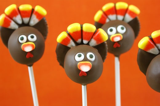 Turkey Cake Pops - without legs :)