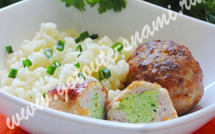 Куриные зразы с зелёной начинкой