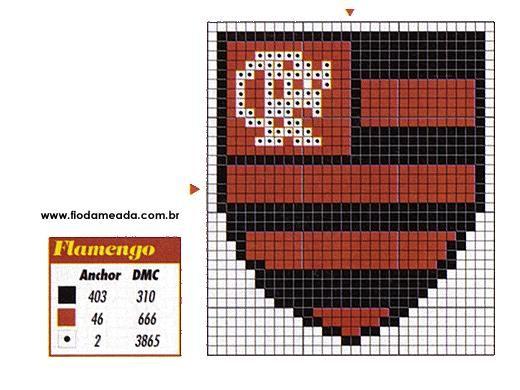 gráfico-ponto cruz-flamengo