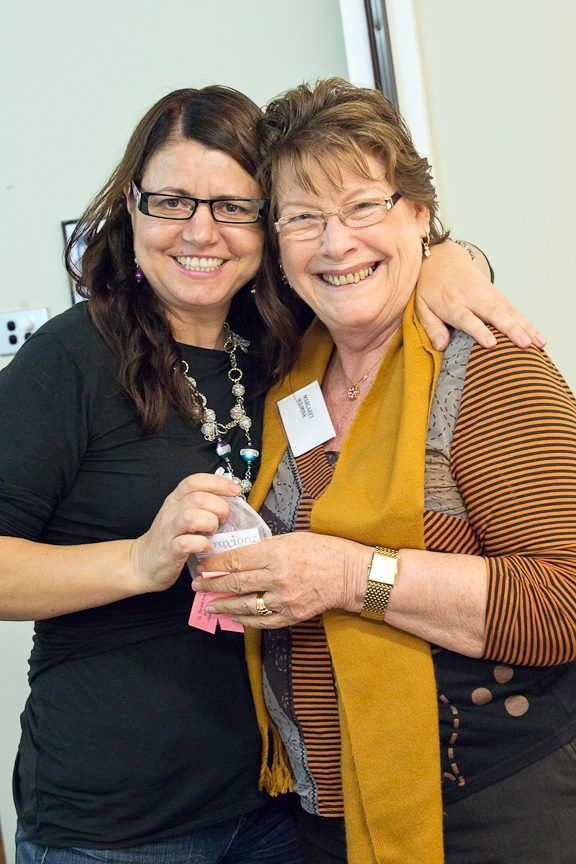 How happy does Margaret Wilmink look here? Winner of the Attraxionz magnetic jewellery lucky door prize at TKTN Gold Coast May 2013.