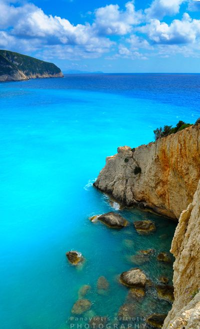 Porto Katsiki, Lefkada, Greece. Our tips for 25 Fun Places to Visit in Greece: http://www.europealacarte.co.uk/blog/2012/07/31/what-to-do-greece/